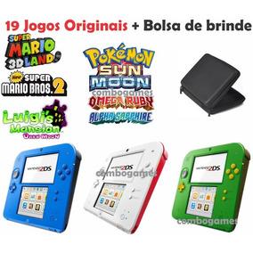 Nintendo 2ds Jogos Originais Mario Pokemon Zelda 3ds + Bolsa