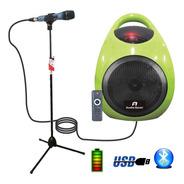 Combo Karaoke Bafle Amplificador Bluetooth + Microfono + Pie