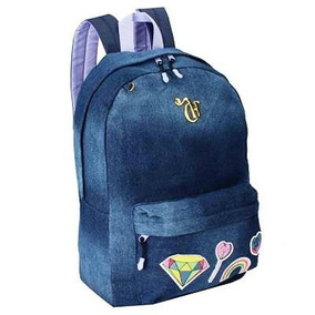 Mochila Capricho Patches 11010 Jeans Azul