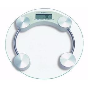 Tapete Balança Banheiro Digital P/ Pesar Até 150 Kg Redonda