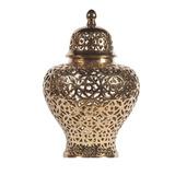 Jarron Calado Ceramica Dorado Decorativo Decoracion Bm Home