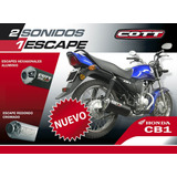 Caño De Escape Cott De 4 Pulgadas Redondo Para Honda Cb1