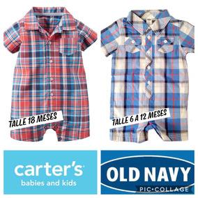 Carters Old Navy Enteritos Camisa Varón Hasta 18 Meses