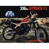 Manual Do Proprietário Honda Xl250r 1982/83 Novo/original