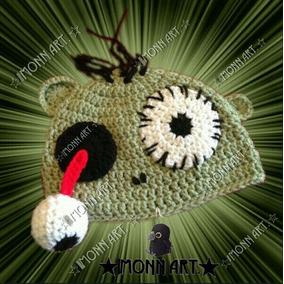 Gorro, Zombie. #2 Halloween Tejido A Mano, Crochet!