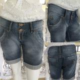 Short Bermuda Azul Jeans Tam 38