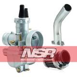 Kit Completo Carburador Ax 100 Ciclomotores + Potencia Nsr