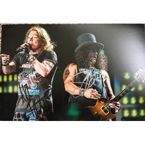 Autógrafo Original Axl Rose E Slash - Guns N