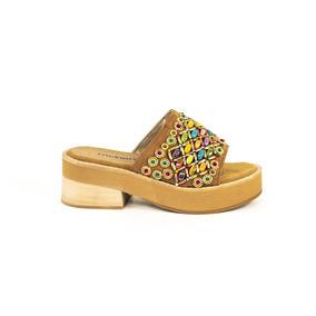 Sandalia Cuero Canutillos Colores Suela 79l114