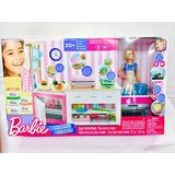 Barbie Cocina De Lujo 20 Pzas Luz Sonido Mattel