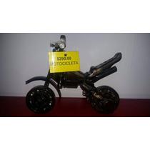 Escultura Motocicleta De Metal Arte Coleccionable Decoracion