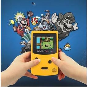 Game Boy Color Gb Colour Com Backlight Com 66 Jogos Amarelo