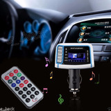 Transmisor Fm Y Reproductor Mp3 Para Carro Automovil
