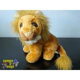 Boneco Pelúcia Leão Rei Da Selva Coleção Animais Selvagens