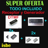 Decodificador + Generador Dtmf + 2x Osciladores + 2x Base