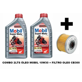Kit Troca De Óleo Mobil 10w30 Authentic Para Cb300
