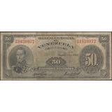 Venezuela 50 Bolivares 11 Mar 1960 Serie G 7 Dig P33c