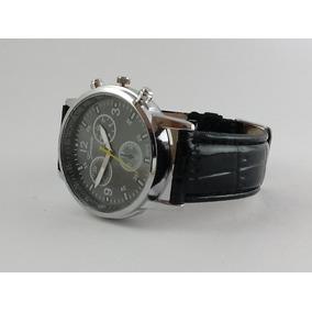 Relógio Masculino Geneva Luxo Pulseira Em Couro