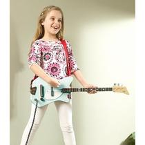 Guitarra Eléctrica Turquesa 3 Cuerdas Loog Guitar Para Niños