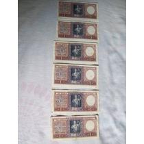 Lote De 6 Antiguos Billetes Argentinos De 1 Peso M/n