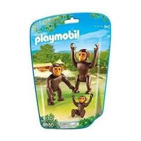 Playmobil 6650 Animales Zoo Monos Changos Simios Bebe Safari