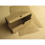Caja Empanadas Pizza Sándwiches Fritas Cartón Gris X 100