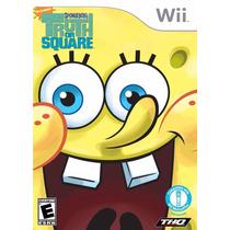 Nintendo Wii Bob Esponja Truth Or Square Lacrado 100% Origin