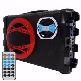 Caixa De Som Portátil 120w Bluetooth Fm Usb Sd P10 D-bh2012