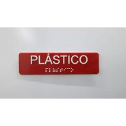Placa Informativa Lixo Reciclável Braille E Relevo