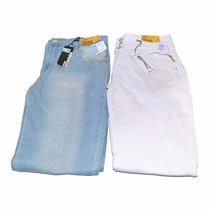 02 Calças Jeans Sawary Feminina 48 Queima De Estoque