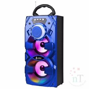 Caixa Som Amplificada Bluetooth Microfone Fm Usb Control E11