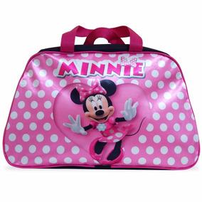 Bolsa Infantil Para Viagem Minnie + Lancheira Minnie