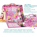 Set De 6 Super Juegos Fashion Kreker Barbie Dorso P/ Pintar