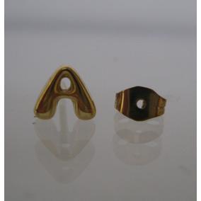 Um Brinco Sem Par Ouro Unisex 2° Furo - 12 X S/juros (111)