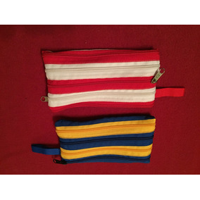 Cartucheras Realizadas Con Cierres De Diferentes Colores