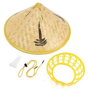 Sombrero Chino Bambu Gorro Protector Sol Lujo Nuevos 2ed0db1ccba