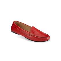 Zapato Mocasín Mega Para Damas 1601 Rojo