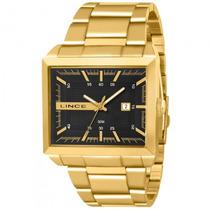 Relógio Lince Mqg4267s P1kx Dourado Quadrado Preto- Refinado