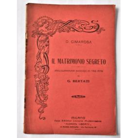 Impreso Letra Melodrama Il Matrimonio Segreto Circa 1915