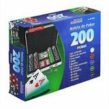 Maleta De Poker No Aluminio 200 Peças Poquer Frete Grátis