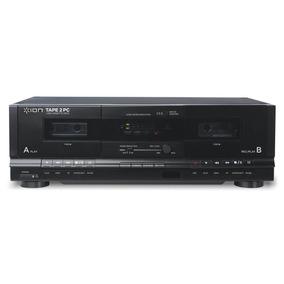 Toca-fitas K7 Cassete Duplo Deck E Conexão Usb Ion Tape2pc