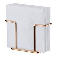 Porta Suporte Guardanapos Aço Cromado Ou Rosé Gold Future