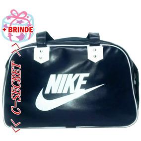 Bolsa Nike Feminina + Chaveiro De Brinde Azul Preto Rosa