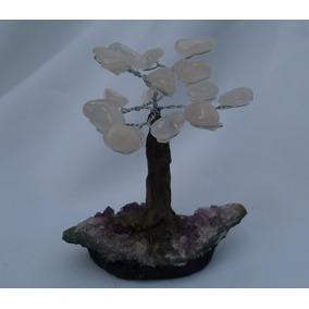 Árvore Bonsai De Quartzo Rosa - Feng Shui