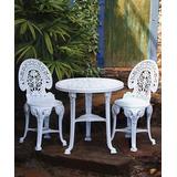 Conjunto Mesa Redonda +2 Cadeiras Colonial Plastico Branca