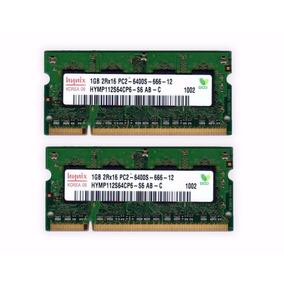 Memória Notebook Hynix Ddr2 2gb Kit 2x1gb 6400 533 667 800