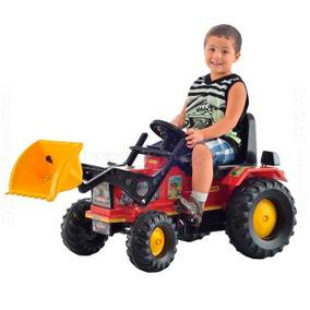 Trator Fazendeiro 2 A 5 Anos Farmer Vermelho Pá Pedal Buzina
