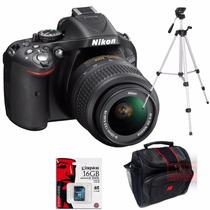 Nikon D5200 18-55mm + Bolso +memoria 16gb Cl10 + Trip. 1,35