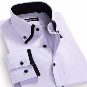Camisa Social Manga Longa, Slim Fit Importado Empresario