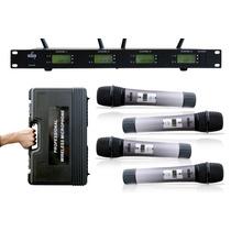 Microfone Sem Fio Arcano Ar-hs40 4 Microfones Completo